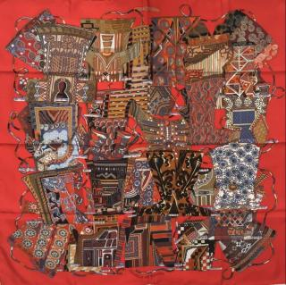 Hermes Voyages En Etoffes Silk Scarf 90