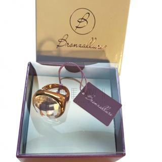 Bronzallure Rose Gold Vermeil Quartz Cocktail Ring