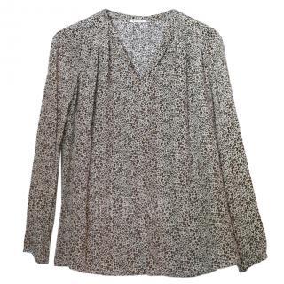 Masscob Printed Silk Oversize Blouse