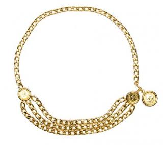 Chanel Gold Tone CC Medallion Belt