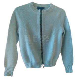 Balmain Turquoise Knit Cashmere Cardigan