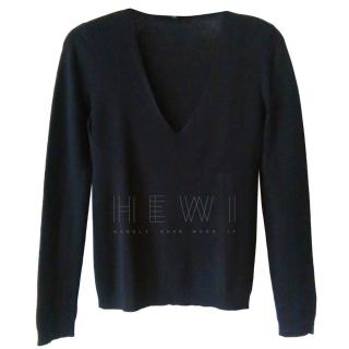 Gucci Black V-Neck Wool Jumper