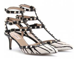Valentino Rockstud Zebra Sandals