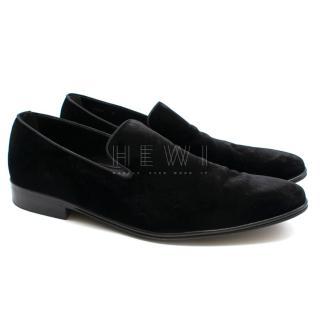 Dolce & Gabbana Black Velvet Slippers