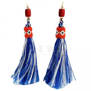 Vicki Sarge Oaybidah Handmade Tassel Earrings