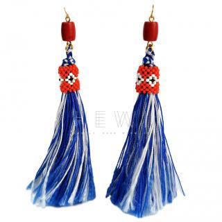 Vicki Sarge Oaybidah Handmade Tassel Earrings