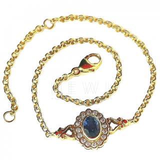 Bespoke Ceylon Sapphire & Diamond bracelet