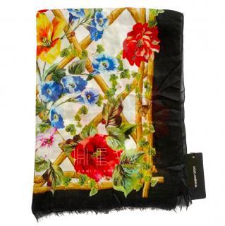 Dolce & Gabbana Floral Print Cashmere Scarf