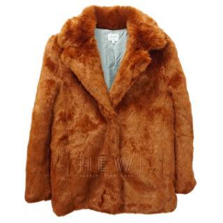 Bellerose Faux Fur Orange Coat