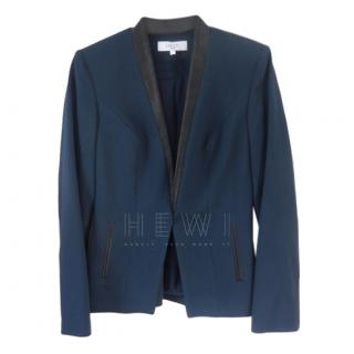 Savin London Blue Collarless Blazer