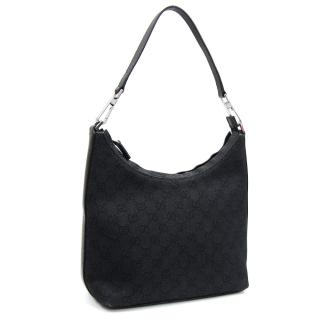 Gucci Black Monogram Shoulder Bag