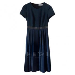 Savin London navy silk dress