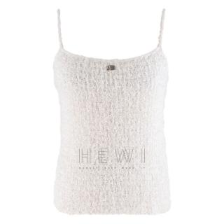 Chanel White Tweed Cami Top