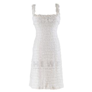 Chanel White Tweed Sleeveless Dress