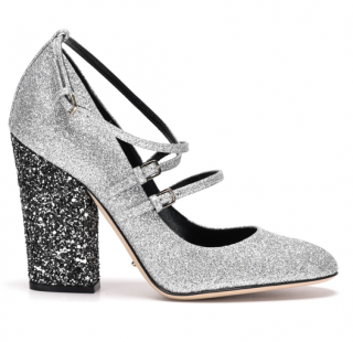 Sergio Rossi Betty glittered Mary Jane shoes