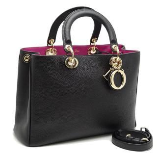 Dior Black & Pink Diorissimo Tote Bag