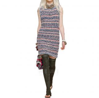 Chanel Resort '15 Tweed Knit Sleeveless Dress