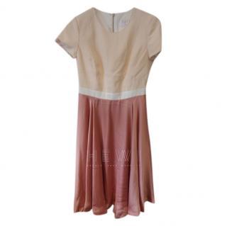 Savin London Bi-Colour Fit & Flare Dress