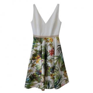Savin London Fit & Flare Printed Mini Dress