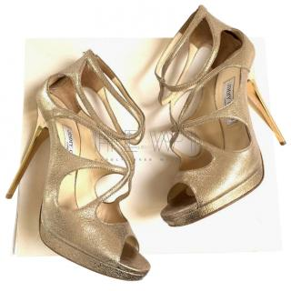 Jimmy Choo Loila gold metallic sandals