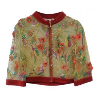Savin London Embroidered Floral Jacket