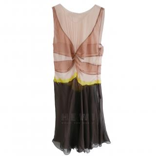 Prada Sheer Chiffon Mini Dress