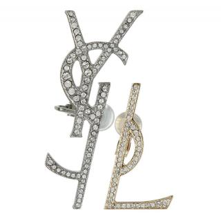 Saint Laurent YSL Logo Earrings