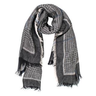 Stella McCartney Grey Prince Of Wales Check Scarf