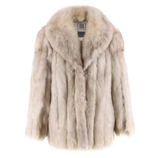 Saga Fox Platinum Fox Fur Coat