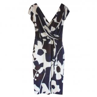 Max Mara Floral Print Fitted Dress