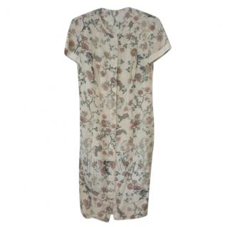 Savin London Vintage Floral Print Shirt Dress