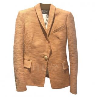 Balmain Copper Textured Blazer