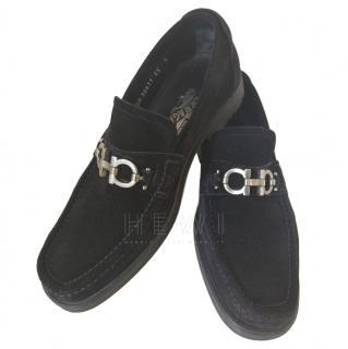 Salvatore Ferragamo Men's Suede Loafers shoes UK6