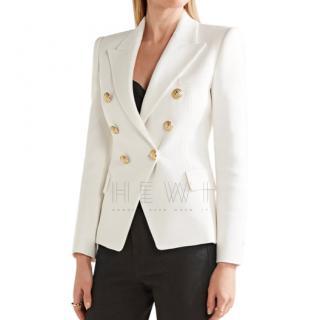 Balmain Ivory Textured Blazer