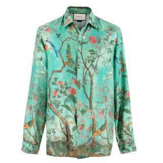 Gucci Heritage Floral Print Silk Shirt