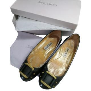 Jimmy Choo Pebbled Leather Ballet Flats
