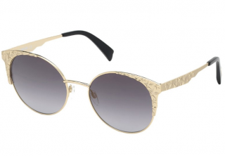 Just Cavalli Gold Star Punched Round Sunglasses