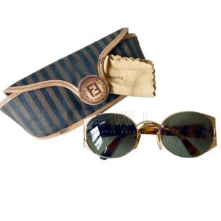 Fendi Vintage Oval Sunglasses