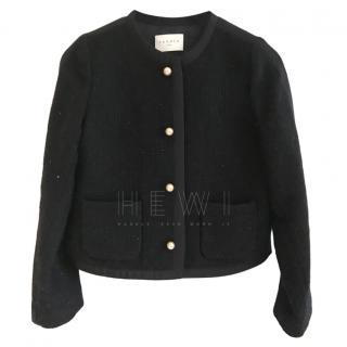 Sandro Lurex Navy Tweed Jacket