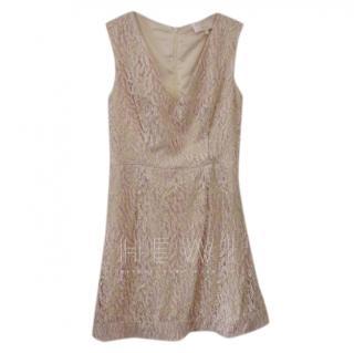 Savin London Pink Embroidered Mini Dress