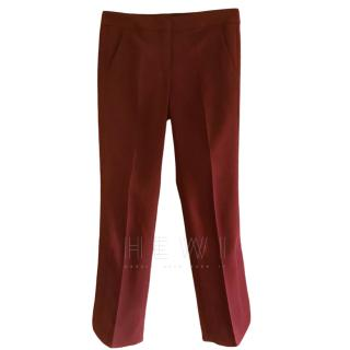 Sportmax Burgundy Cigarette Trousers