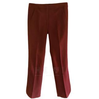 Sportmax Burgundy Cigarette Trousers