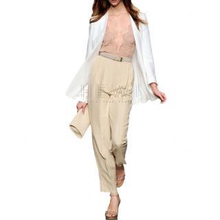 Stella McCartney Nude Lace V-Neck Top