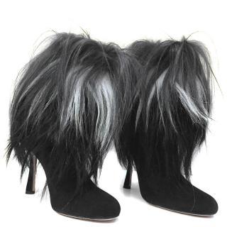 Oscar De La Renta Fur Trim Boots