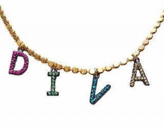 Katerina Psoma Crystal DIVA Necklace
