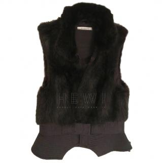 Givenchy Fur Trim Gilet
