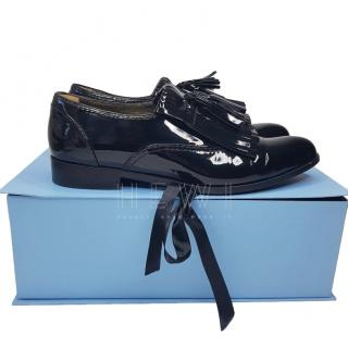 Lanvin Black Patent Leather Loafers