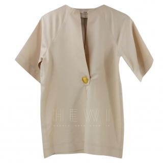 Celine Silk Blend Nude Kimono Blouse