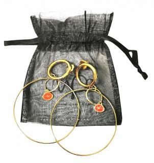 Maria Francesca Pepe Double Hoop Earrings