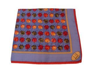 Dunhill Maple Leaf Print Silk Scarf